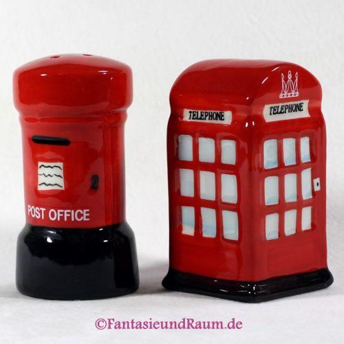 London Salz & Pfefferstreuer Set, Brief-und Telefonbox