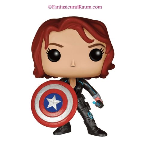 Black Widow With Cap's Shield