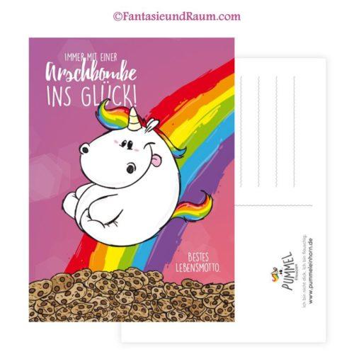 Postkarte - Arschbombe