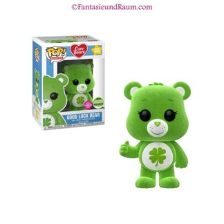 Care Bears -Good Luck Bear Flocked