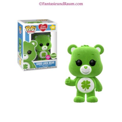 Care Bears -Good Luck Bear Flocked