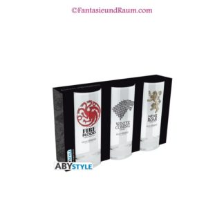 GAME OF THRONES 3 glasses set