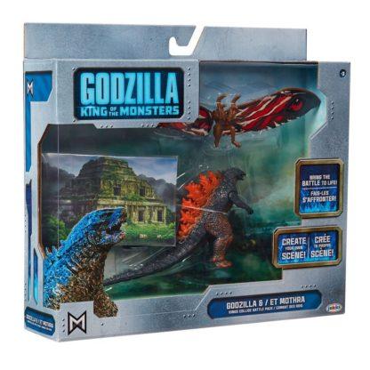 Godzilla King of the Monsters Monster Matchups Actionfiguren 9 cm Doppelpack Fire Godzilla & Mothra