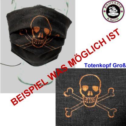 Maske Totenkopf gross