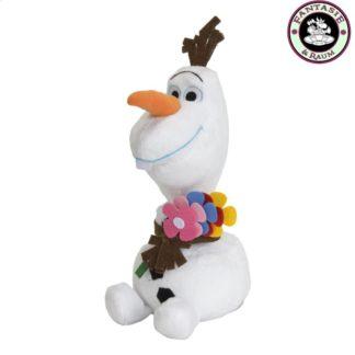 Sommer Olaf mit Blumen
