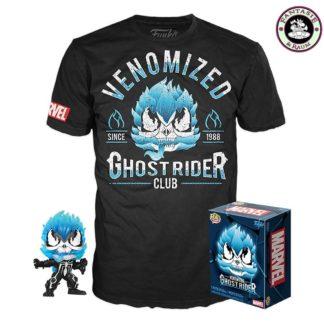 POP! and Tee Vinyl Figur und T-Shirt Set Venom Ghost Rider