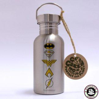 DC Comics Edelstahl-Trinkflasche Logos