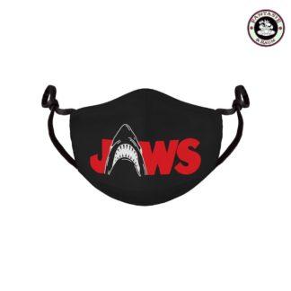 Der Weiße Hai Stoffmaske Logo