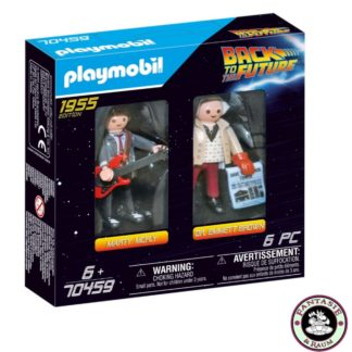 Back to the Future Marty Mcfly und Dr. Emmett Brown PLAYMOBIL